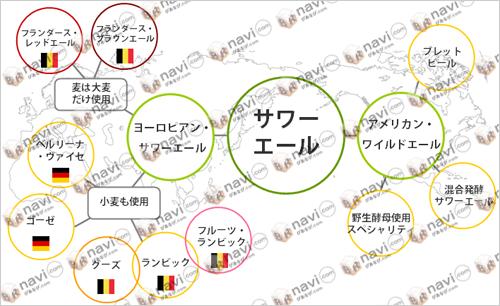 酸っぱいビール/サワーエールマップ